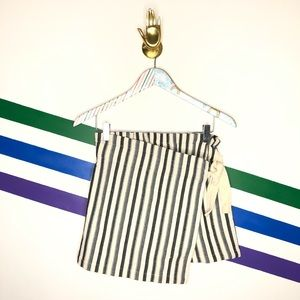 NEW Urban Outfitters striped wrap skort